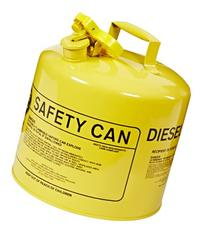 Eagle UI-50-SY Type I Metal Safety Can, Diesel, 12-1/2""