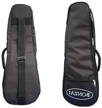 Bonzai Soprano Ukulele Gig Bag with 5mm Foam Padding, Black