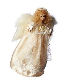 Kurt Adler UL 10-Light Angel Christmas Treetop Figurine with