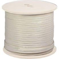 UL Listed RG6 18AWG Coaxial Cable, Quad Shielded, White,