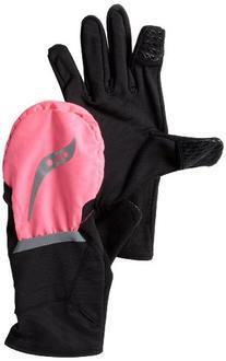 Saucony Women's Ulti-Mitt Running Convertible Gloves,