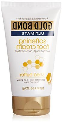 Gold Bond Ultimate Softening Foot Cream with Shea Butter, 4