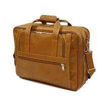 Piel Leather Large Ultra Compact Computer Bag, Saddle, One
