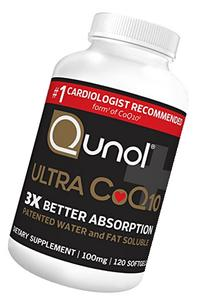 Qunol Ultra CoQ10, 300% Better Absorption, Patented Water