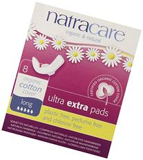 Natracare Ultra Extra Pads, Long, 8 ea