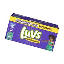Luvs Ultra Leakguards Size 6 Diaposable Diapers - 112 Count