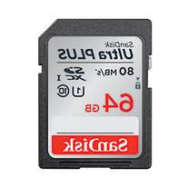 SanDisk Ultra Plus Micro Secure Digital  Memory Cards, 64GB