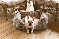 Pet Trendy Modern Chic Trellis Thick Bolstered-Microfiber