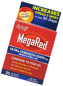 MegaRed 1000mg Ultra Strength Omega 3 Krill Oil-100% Pure