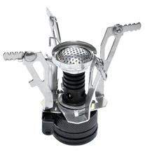 qzoxx Ultralight Backpacking Canister Camp Stove with Piezo