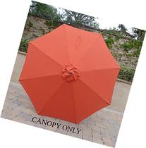 9ft Umbrella Replacement Canopy 8 Ribs in Orange