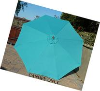 9ft Umbrella Replacement Canopy 8 Ribs in Turquoise Olefin