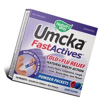 Nature's Way Umcka FastActives Cold Plus Flu Relief Berry -