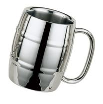 UName Double Wall Stainless Steel Barrel Mug,430ml,15oz