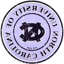 UNC Tarheels 12 Inch Embossed Metal Nostalgia Circular Sign