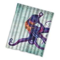 Unique and Generic Rainbow octopus Shower Curtain Custom