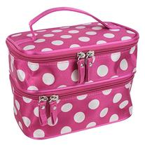 niceEshop Unique Dots Pattern Double Layer Cosmetic Bag-Hot
