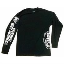 Unisex-Adult Gas Monkey Garage Black Long Sleeve Cotton T-