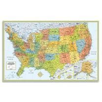 """Rand Mcnally Us Wall Map  50""""x32"""