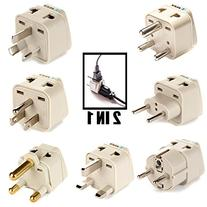 OREI 7 Travel Adapter Plug Set  Safe Grounded For Europe,