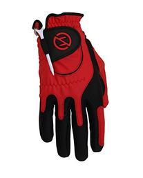 Zero Friction Men's Golf Gloves, Left Hand, One Size, Red