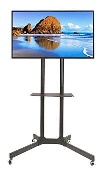 EZM Mobile TV Cart Rolling Stand for LCD LED Plasma Flat