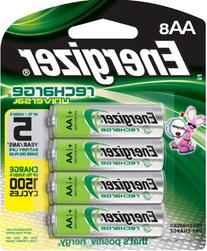 Energizer Rechargeable AA Batteries, NiMH, 2000 mAh, Pre-