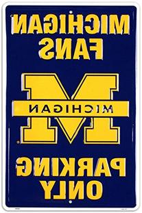 University of Michigan Tin Sign 12 x 18in