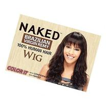 Naked Unprocessed Human Hair Wig - Brazilian Wave 20 in-