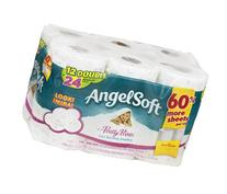 Angel Soft Unscented Bathroom Tissue Pretty Prints 12 ROL