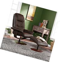 SouthernEnterprises UP4973RC Brown Leather Recliner and