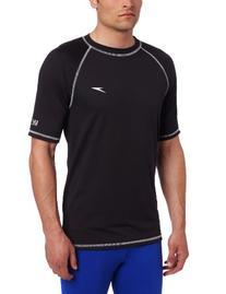 Speedo Men's UPF 50+ Easy Short Sleeve Rashguard Swim Tee,