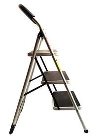 330lbs Upper Reach Reinforced Metal Folding Step Ladder