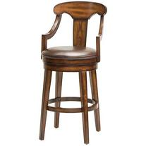 "Hillsdale Furniture Upton 45.5"" Swivel Bar Stool, Rustic Oak"
