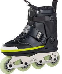 K2 Skate Uptown Inline Skates, Black/Silver/Lime, 10.5