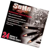SoHo Urban Artist Professional Colored Pencil Set of 24 -