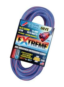 US Wire 98050 14/3 50-Foot SJEOW TPE Cold Weather Extension