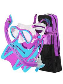 US Divers Flare Jr LX Premium Dry Snorkeling Set for