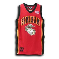 Rapid Dominance US MARINES Military Basketball Jersey - Red
