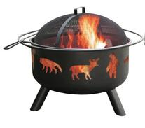 Landmann USA 28347 Big Sky Fire Pit, Wildlife, Black
