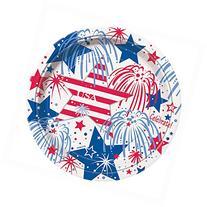 USA Fireworks Patriotic Dinner Plates, 8ct