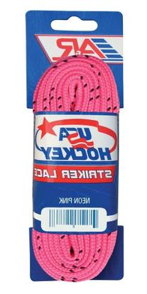 A&R Sports USA Hockey Laces, 96-Inch, Neon Pink