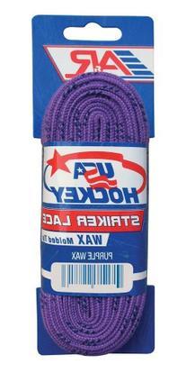 A&R Sports USA Waxed Hockey Laces, 84-Inch, Purple