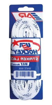 A&R Sports USA Waxed Hockey Laces, 120-Inch, White