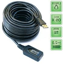 Plugable 10 Meter  USB 2.0 Active Extension Cable Type A