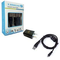 IN-Camera USB AC Power Adapter Battery Charger + PC Cord for