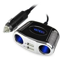 BESTEK 2-Socket Cigarette Lighter Power Adapter DC Outlet
