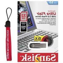 SanDisk 32GB 32G USB CZ73 Ultra Flair USB 3.0 150MB/s SDCZ73