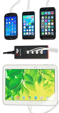 4 Port USB Fast Charger for Smartphones , Tablets and Other