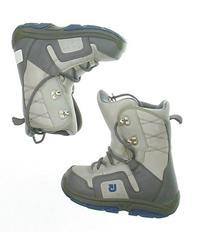 Used Burton Moto Gray Snowboard Boots Kid's Size 2 - Mondo